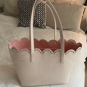 bp Bags - BP Scalloped Faux Leather Tote